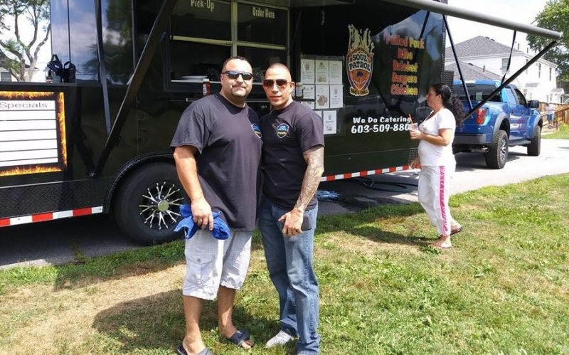 To serve and barbecue: Two local cops find working a food truck is a beat they like
