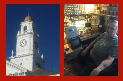 High school's iconic clock tower timepiece back in business