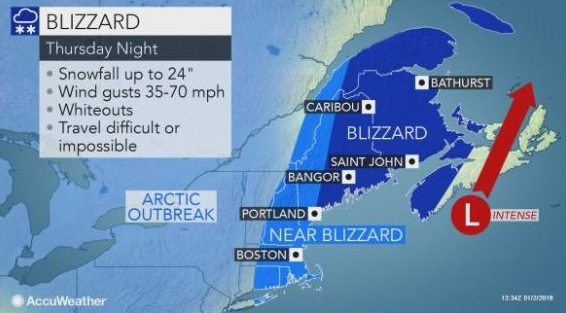 Forecasters keep wary eye on possible Thursday blizzard