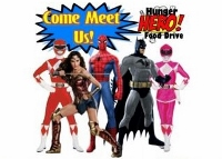 Superheroes on parade to give hunger their best knockout punch