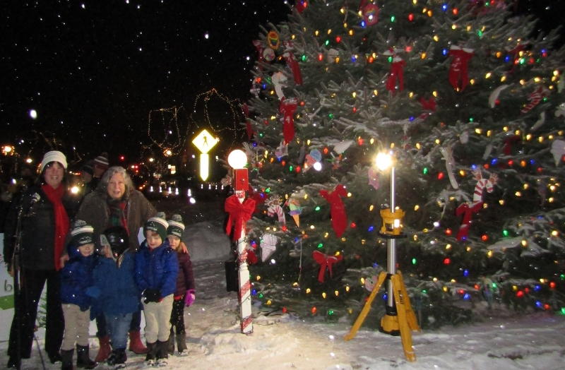 A snowy winter wonderland makes Christmas Tree lighting extra special