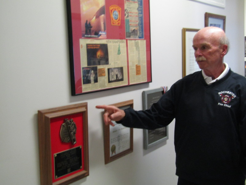 Hail to the Chief: Sanborn retires after 40 years as city firefighter, 12 in charge