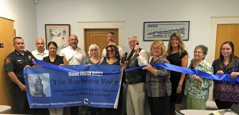 The Rochester Voice celebrates recent opening with ribbon cutting at Chamber