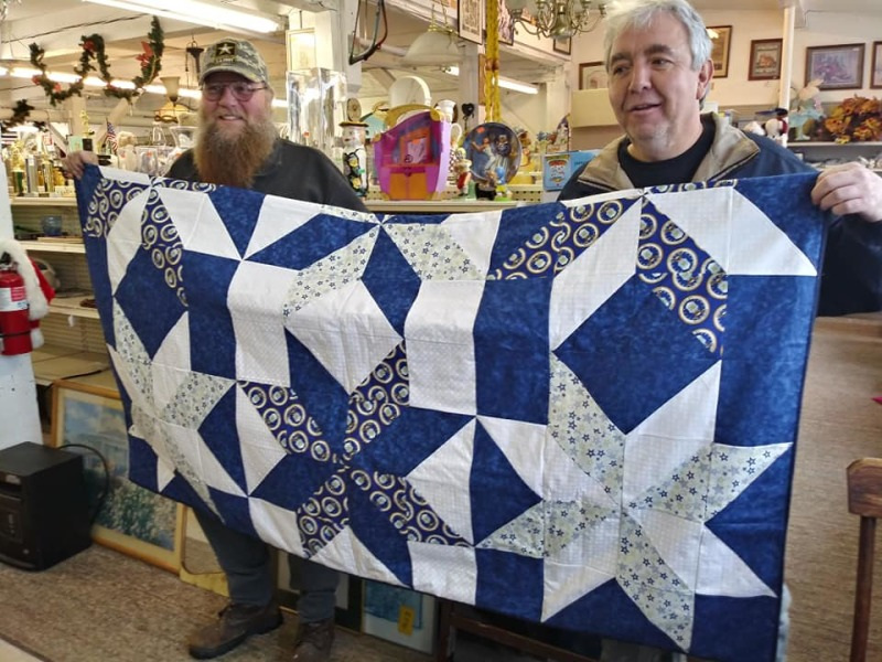 A Wraps of Love quilt kindles a warm glow for an Air Force veteran